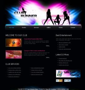 Пример дизайна для сайта ночного клуба