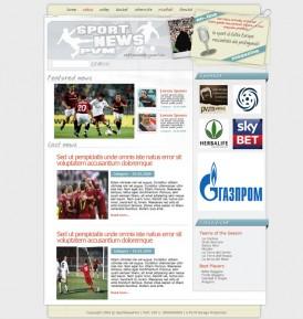 Макет спортивного портала